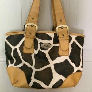 Dolce Gabbana Giraffe print handbag